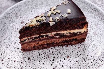 """""""Three Chocolate """" cake"""