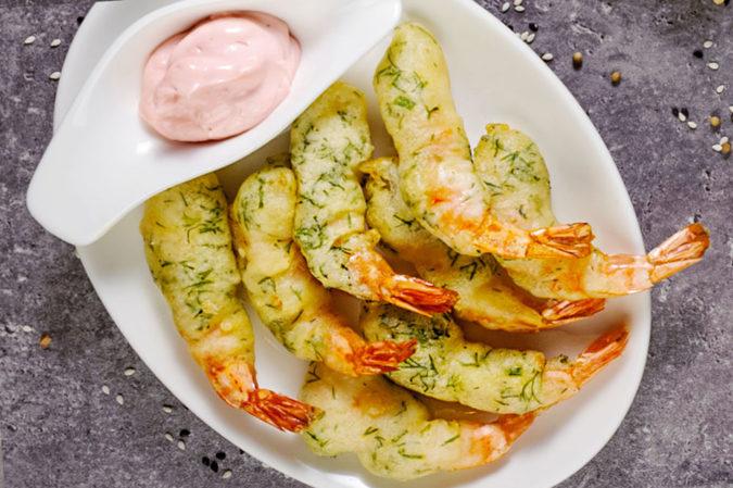 Battered shrimps С14