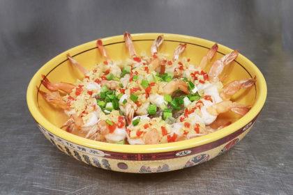 Q4 Steamed shrimps
